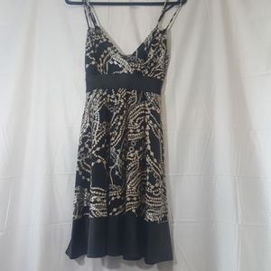 Silver and black Express dress